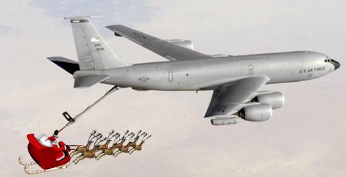 KC-135 and Santa